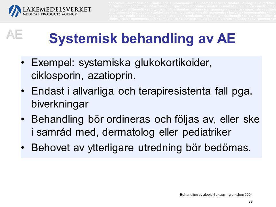 Systemisk behandling av AE