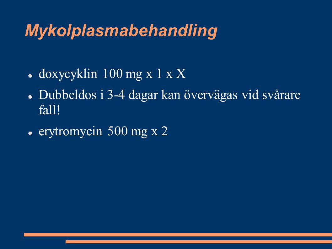 Mykolplasmabehandling