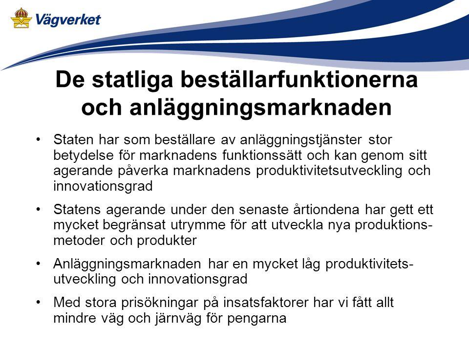 De statliga beställarfunktionerna och anläggningsmarknaden