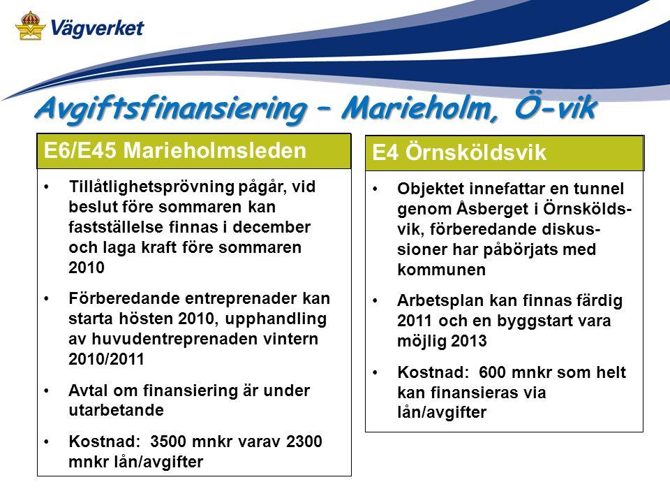 Avgiftsfinansiering – Marieholm, Ö-vik