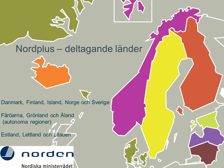 Nordplus – deltagande länder