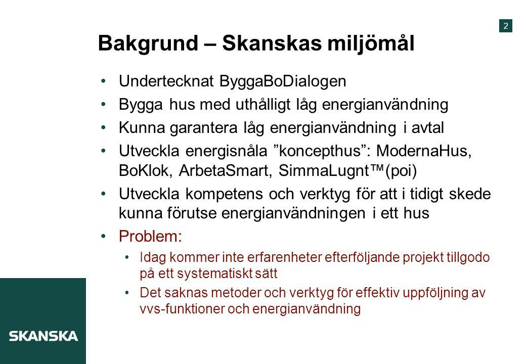 Bakgrund – Skanskas miljömål