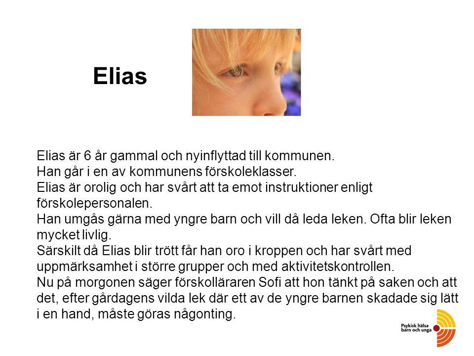 Elias Elias är 6 år gammal och nyinflyttad till kommunen.