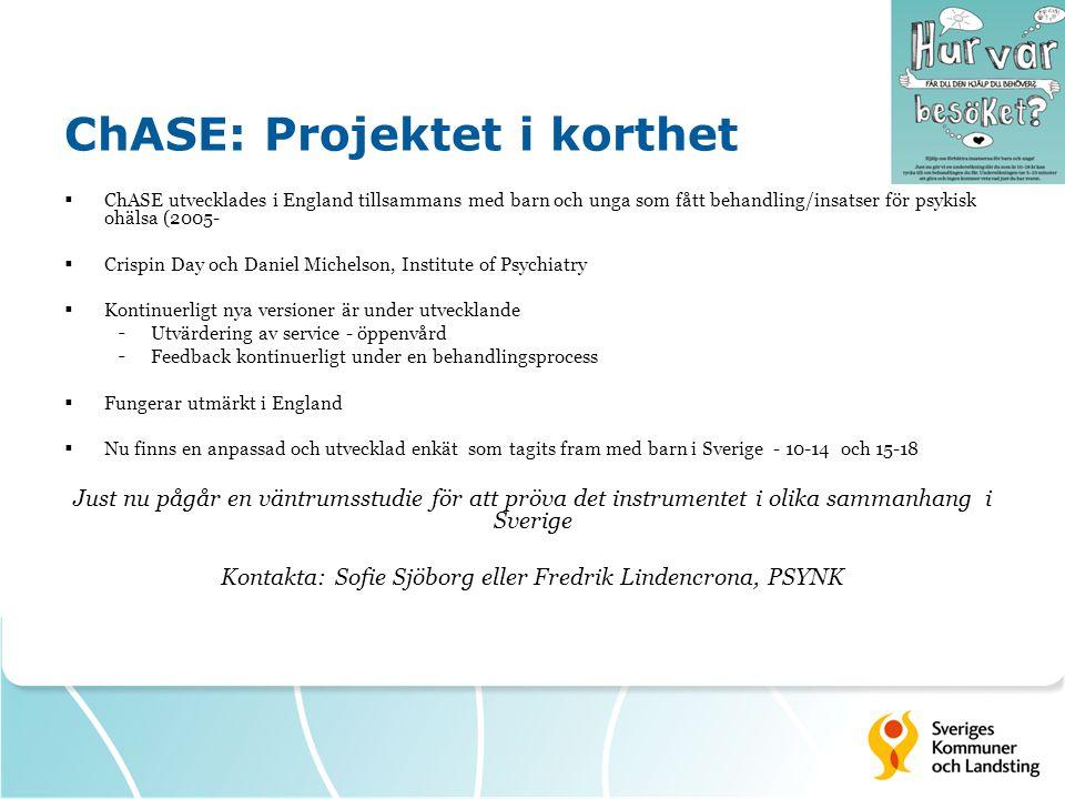 ChASE: Projektet i korthet