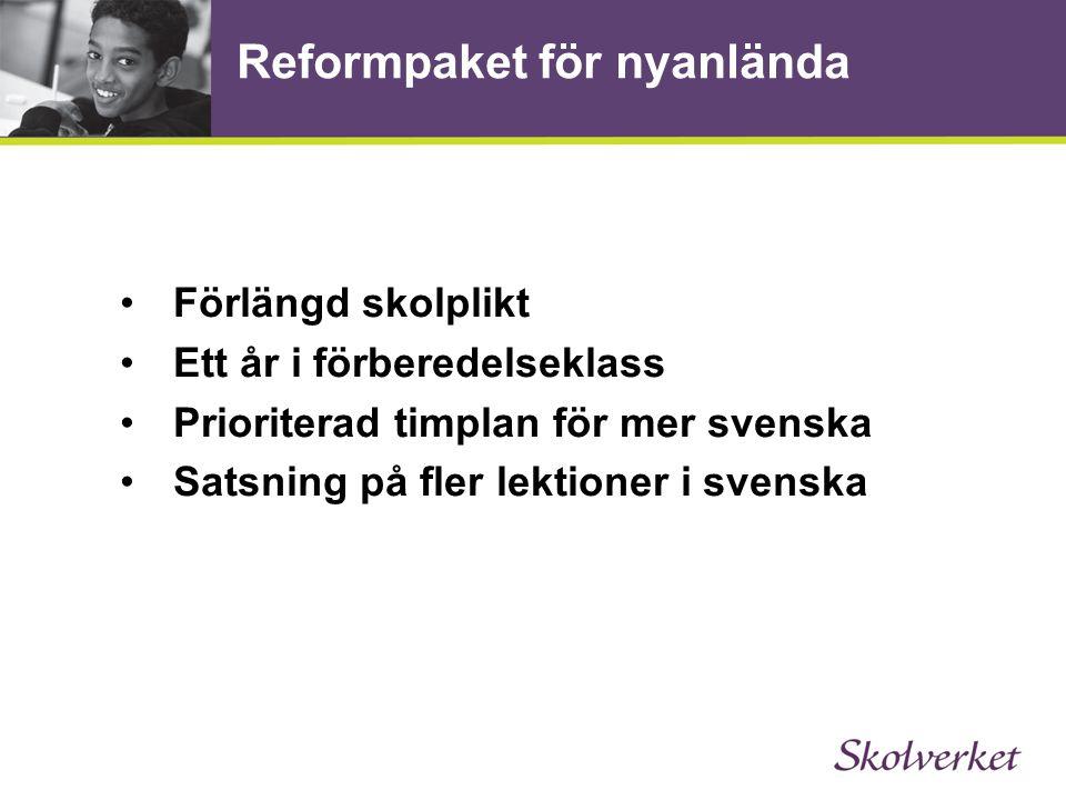 Reformpaket för nyanlända