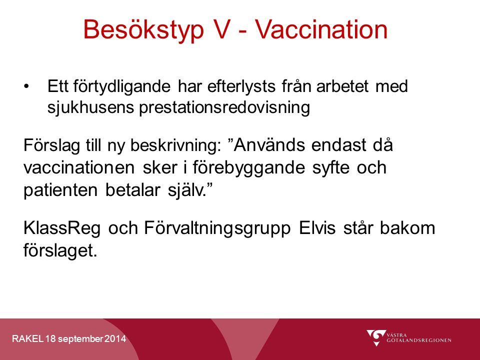 Besökstyp V - Vaccination