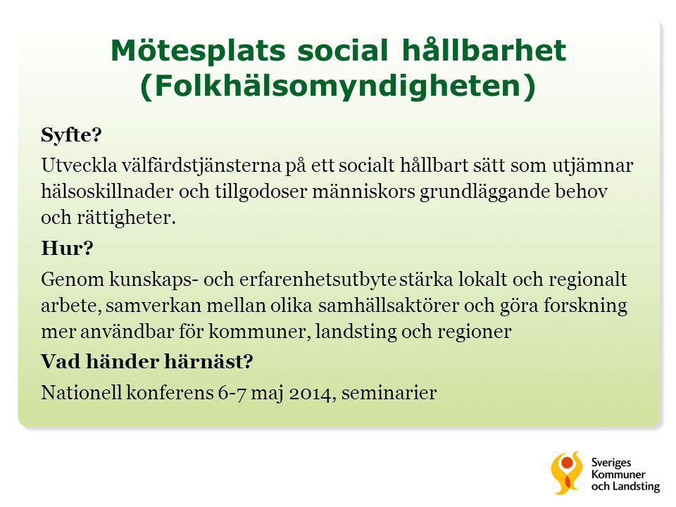 Mötesplats social hållbarhet (Folkhälsomyndigheten)