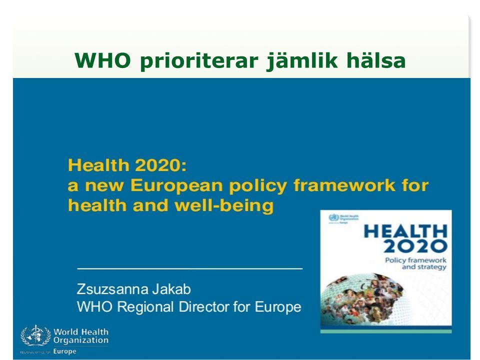 WHO prioriterar jämlik hälsa