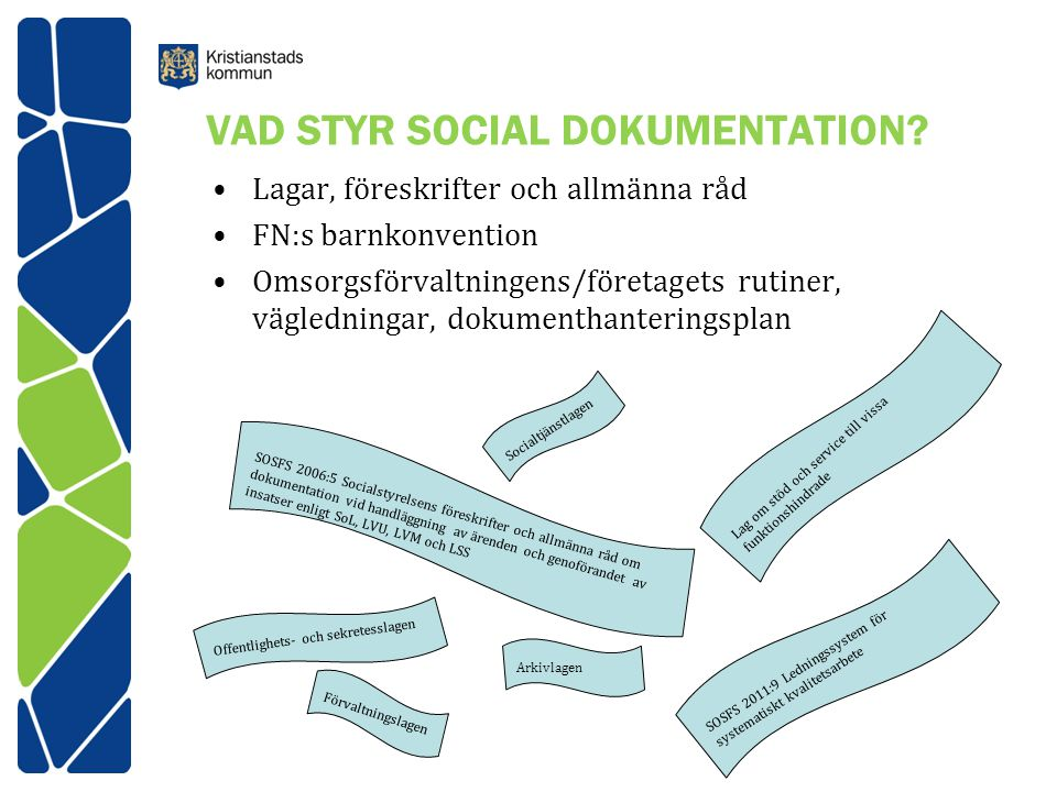 VAD STYR SOCIAL DOKUMENTATION