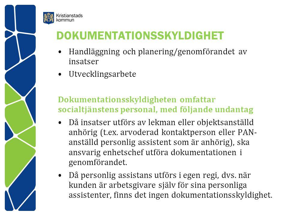 DOKUMENTATIONSSKYLDIGHET