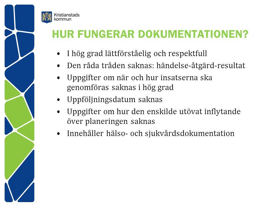 HUR FUNGERAR DOKUMENTATIONEN