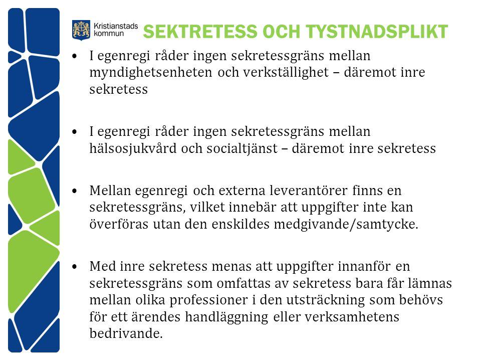 SEKTRETESS OCH TYSTNADSPLIKT