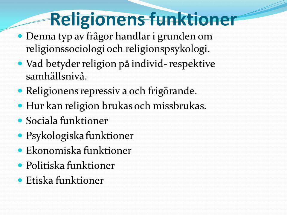 Religionens funktioner