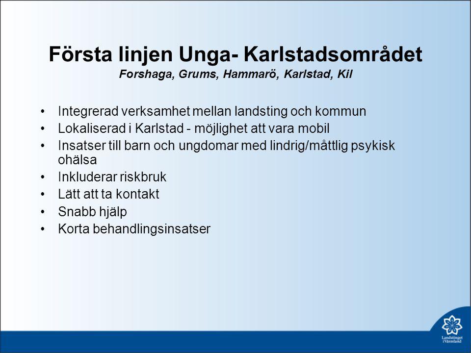 Första linjen Unga- Karlstadsområdet Forshaga, Grums, Hammarö, Karlstad, Kil