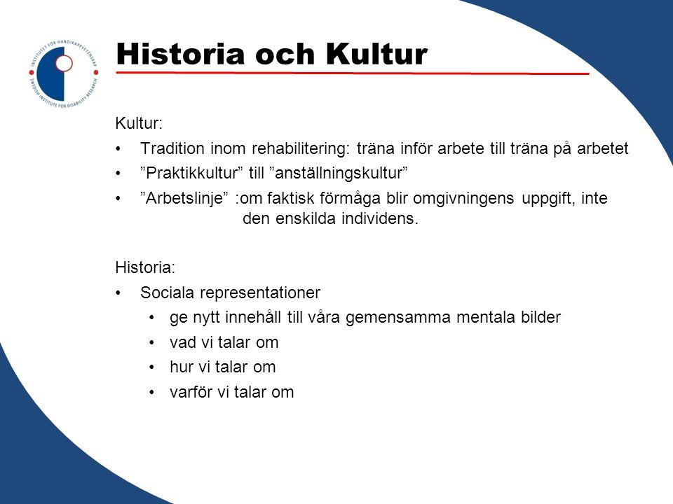 Historia och Kultur Kultur: