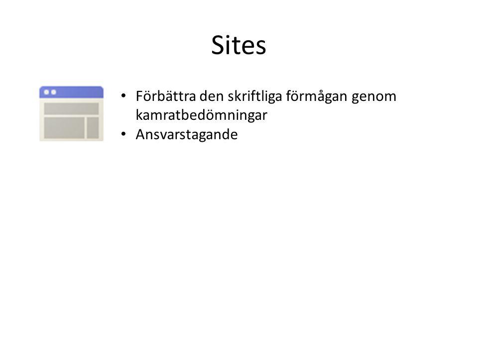 Sites Förbättra den skriftliga förmågan genom kamratbedömningar
