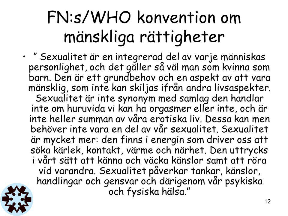 FN:s/WHO konvention om mänskliga rättigheter