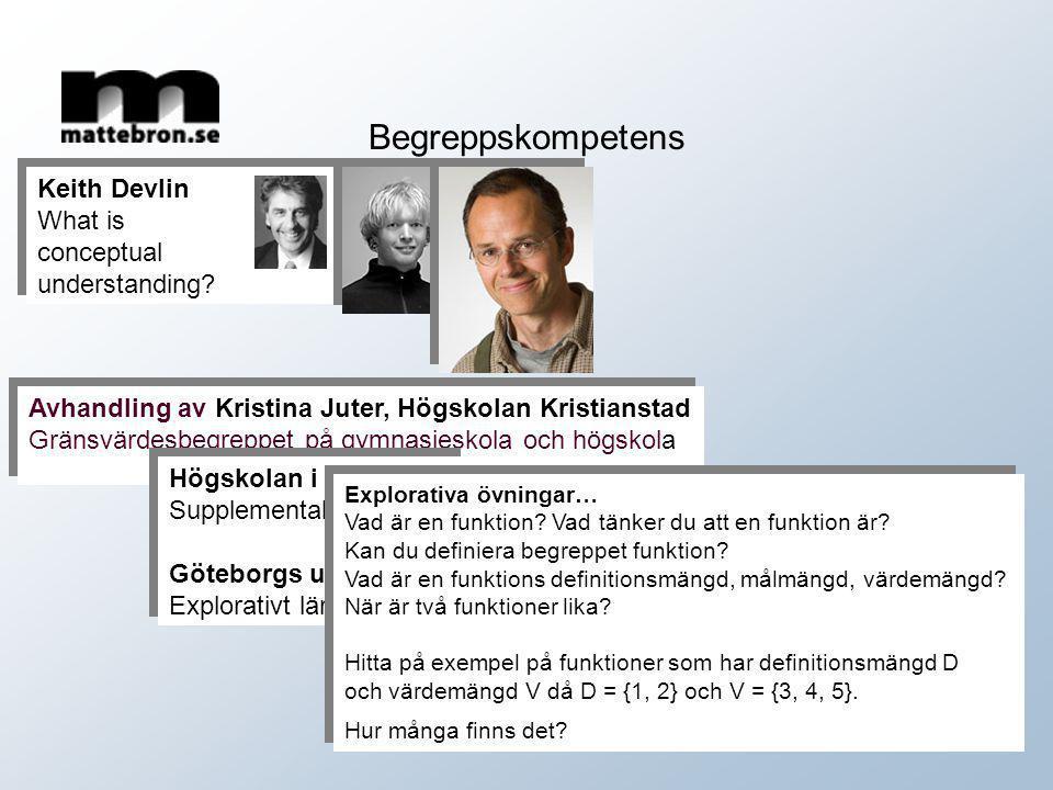 Begreppskompetens Keith Devlin What is conceptual understanding