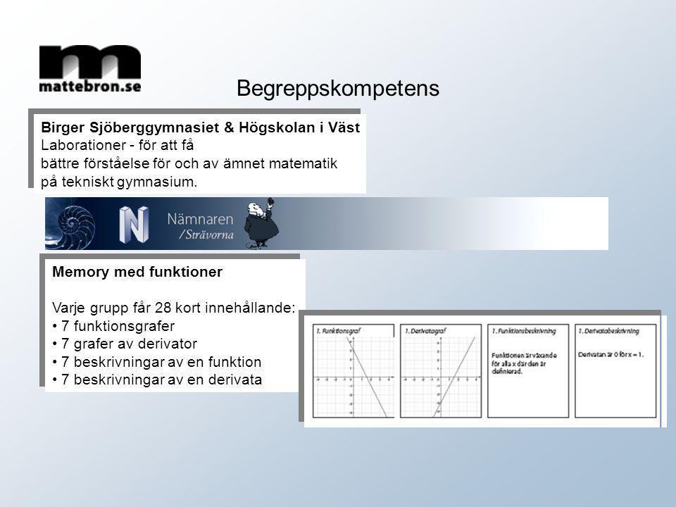 Begreppskompetens Birger Sjöberggymnasiet & Högskolan i Väst
