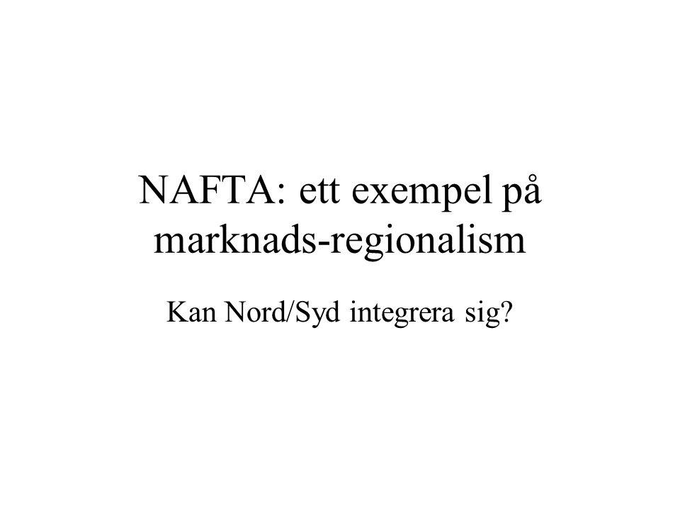 NAFTA: ett exempel på marknads-regionalism