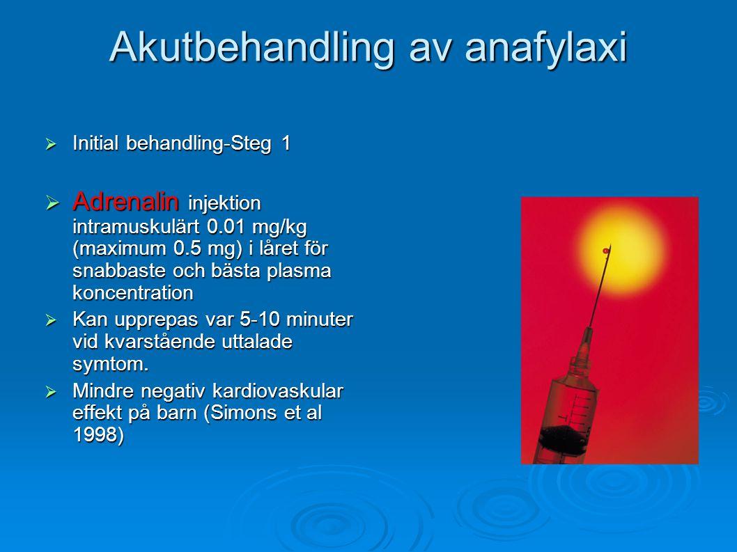 Akutbehandling av anafylaxi