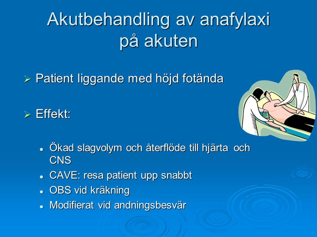 Akutbehandling av anafylaxi på akuten