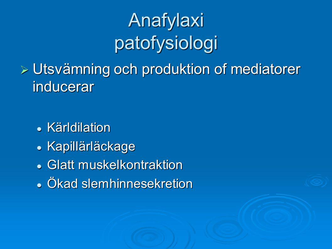 Anafylaxi patofysiologi