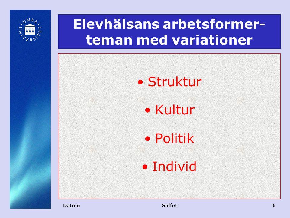 Elevhälsans arbetsformer-teman med variationer