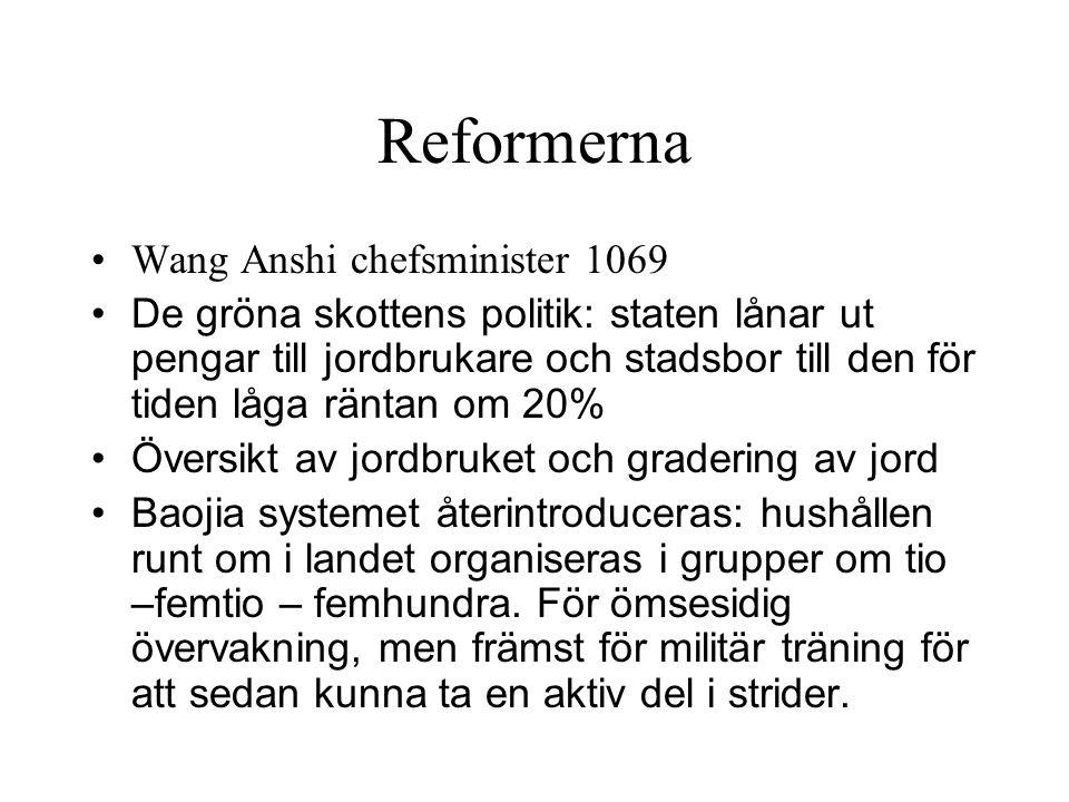 Reformerna Wang Anshi chefsminister 1069
