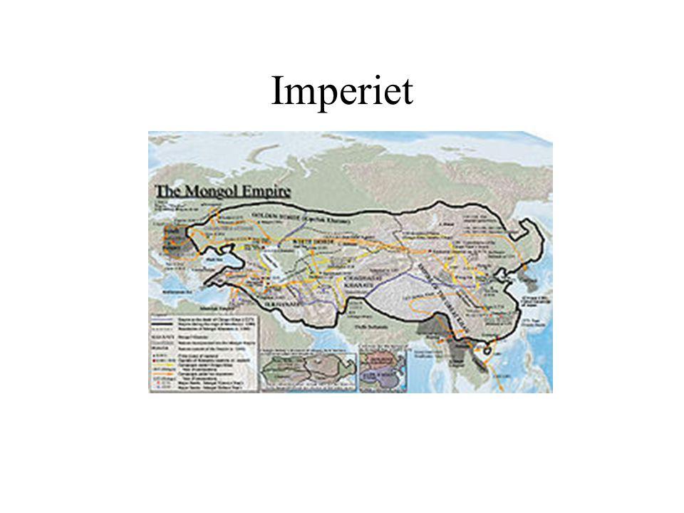 Imperiet Stora Khanatet: till 1368 Chaghadai: Chaghadai 1227- 1370