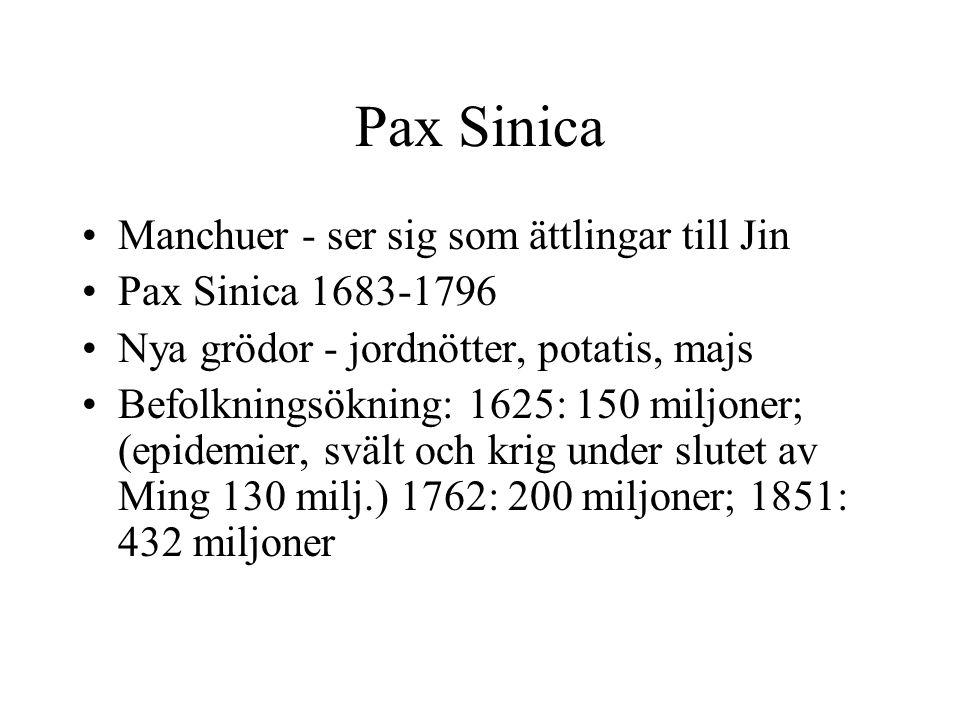 Pax Sinica Manchuer - ser sig som ättlingar till Jin