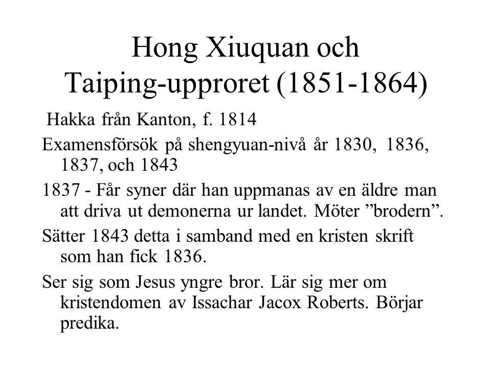 Hong Xiuquan och Taiping-upproret (1851-1864)