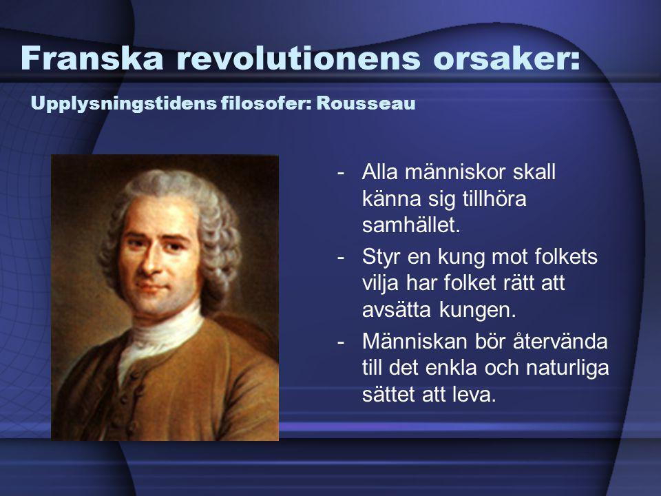 Franska revolutionens orsaker: Upplysningstidens filosofer: Rousseau