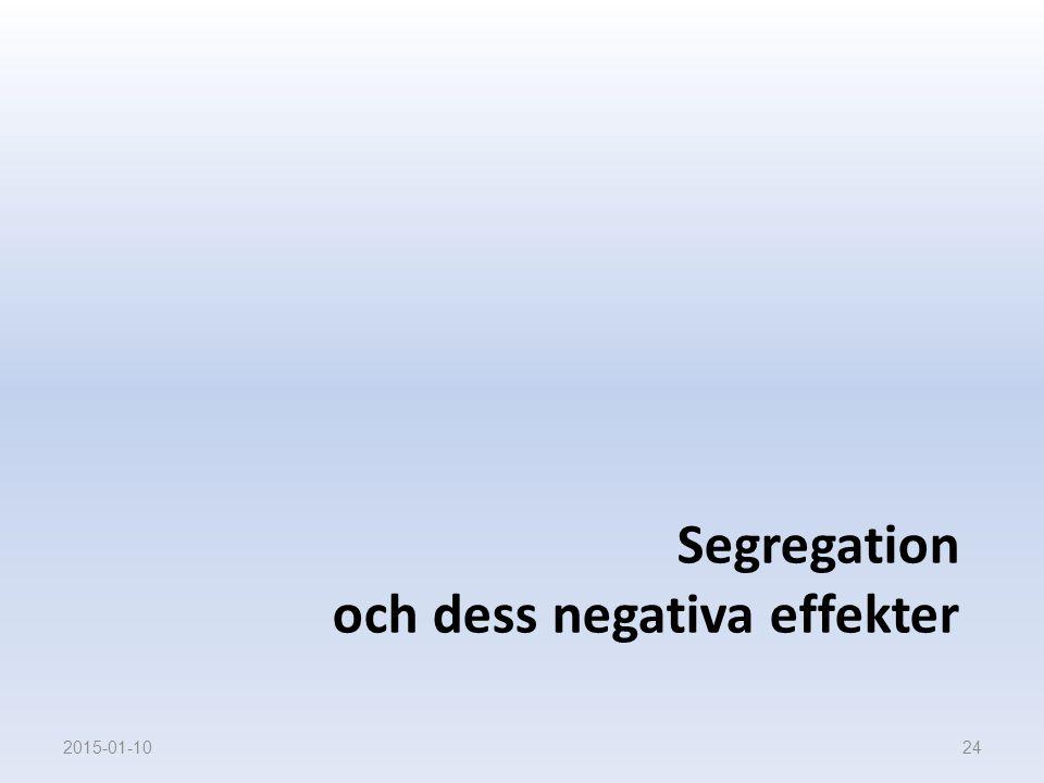 Segregation och dess negativa effekter