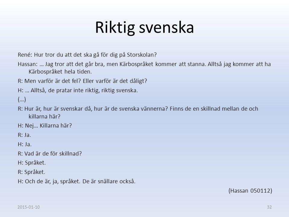 Riktig svenska