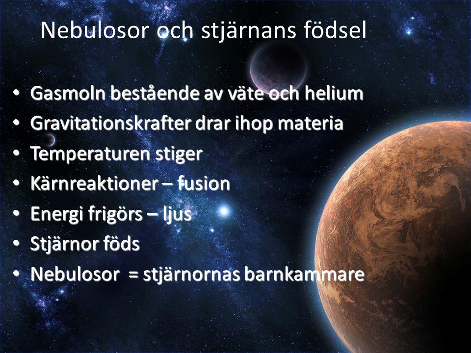 Nebulosor och stjärnans födsel