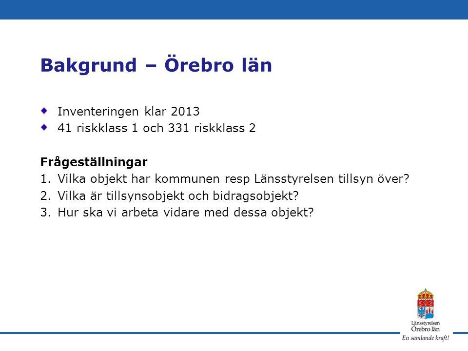 Bakgrund – Örebro län Inventeringen klar 2013