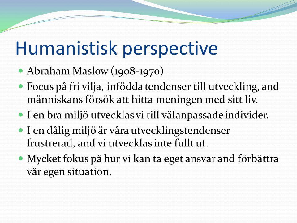 Humanistisk perspective