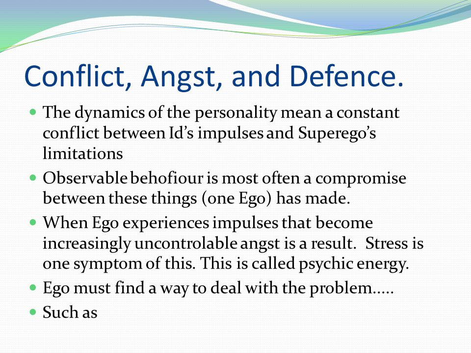 Conflict, Angst, and Defence.