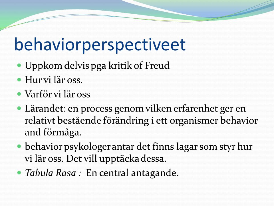 behaviorperspectiveet