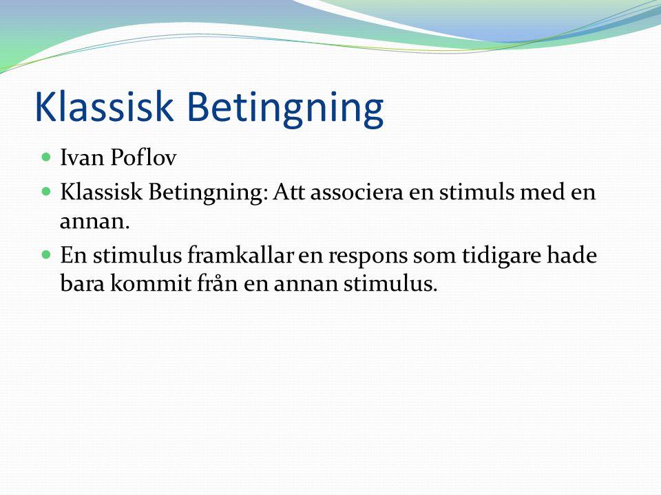 Klassisk Betingning Ivan Poflov