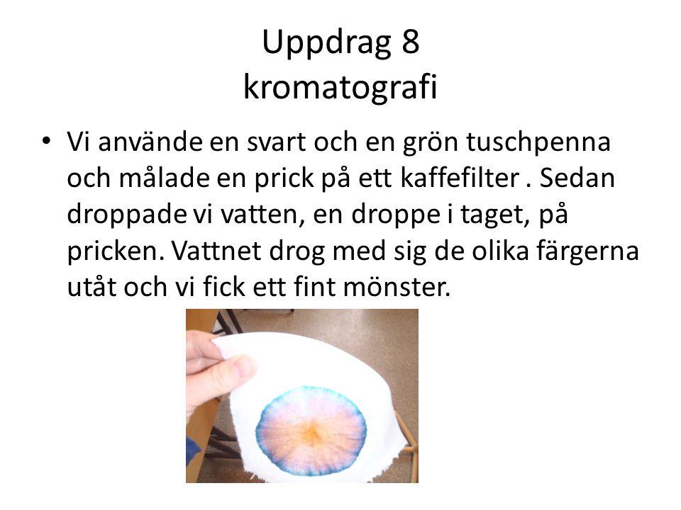 Uppdrag 8 kromatografi