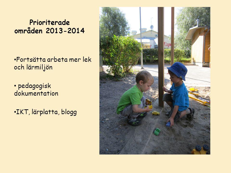 Prioriterade områden 2013-2014