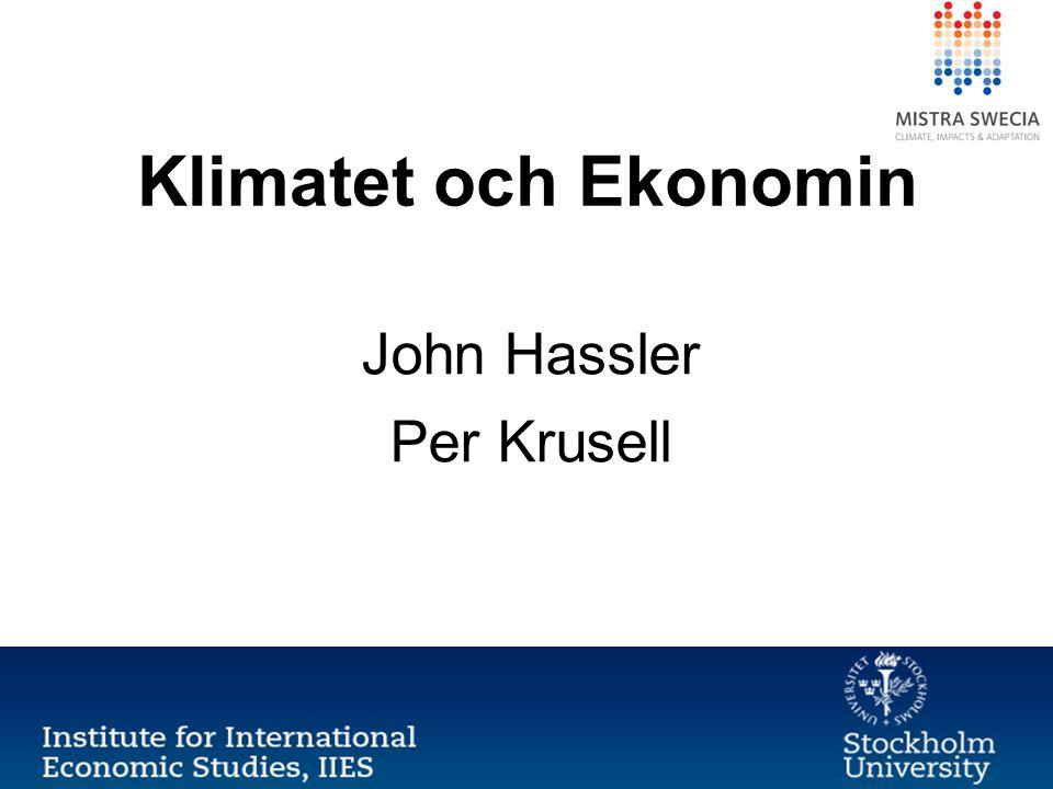 John Hassler Per Krusell