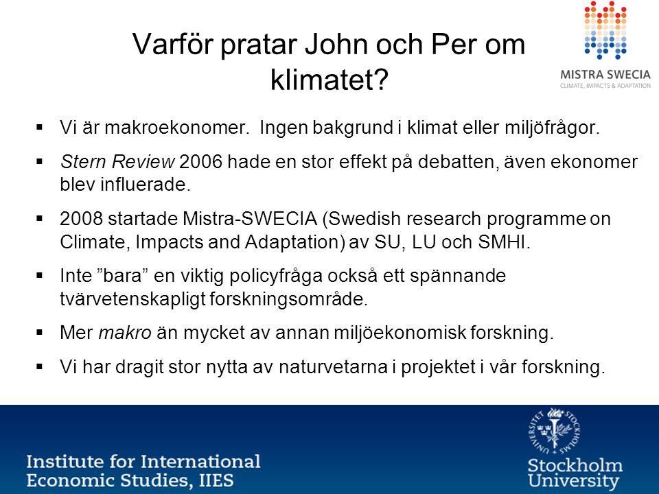 Varför pratar John och Per om klimatet