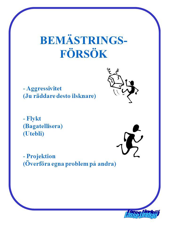 BEMÄSTRINGS-FÖRSÖK - Aggressivitet (Ju räddare desto ilsknare)