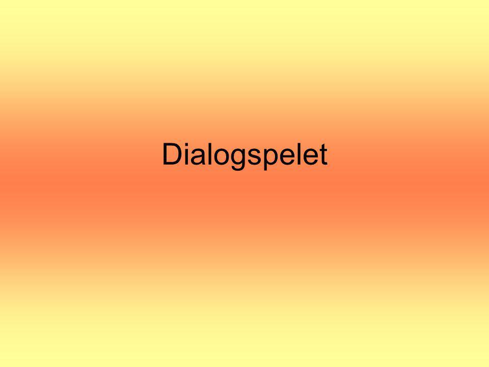 Dialogspelet Övning: Dialogspelet bild 5 ca 15 min