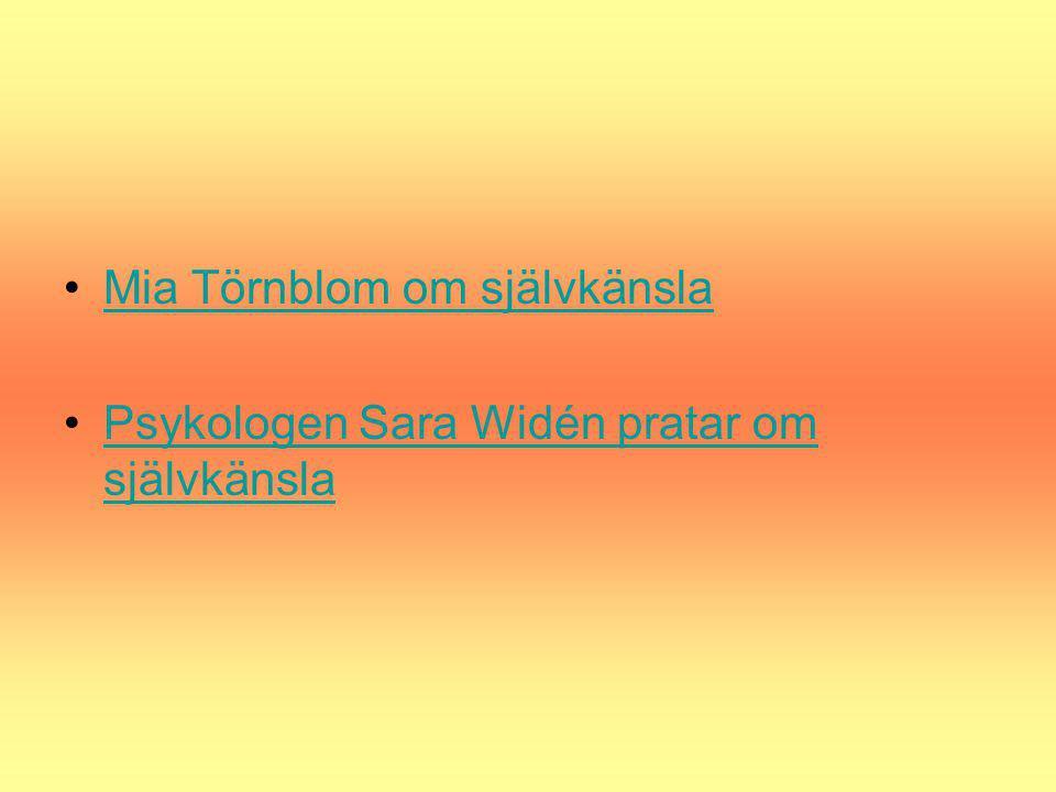 Mia Törnblom om självkänsla