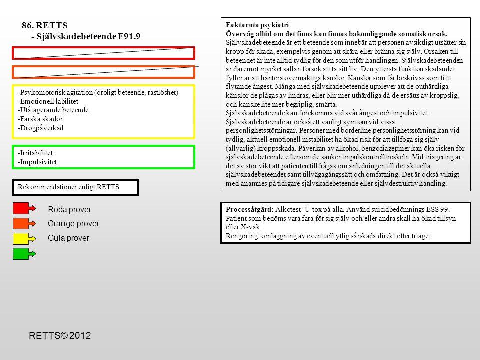 - Självskadebeteende F91.9