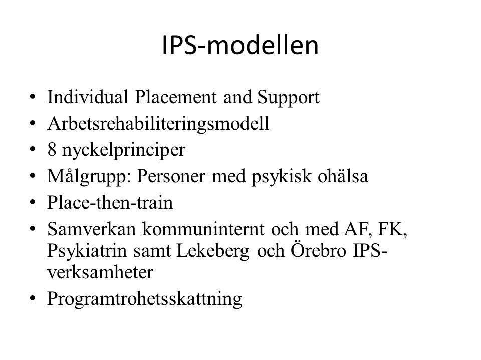 IPS-modellen Individual Placement and Support